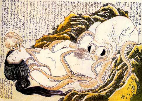 Sen żony rybaka - Hokusai, macki, tentacles